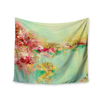 "Ebi Emporium ""When Land Met Sky 1"" Red Green Wall Tapestry"