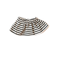 Organic Baby Skirt Black Stripes