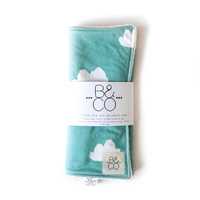 Burp Cloth in Tiffany Clouds