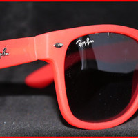 New Wayfarer Sunglasses Red Colour NIB NWT