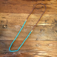 Layered with the Beads Necklace- Turquoise