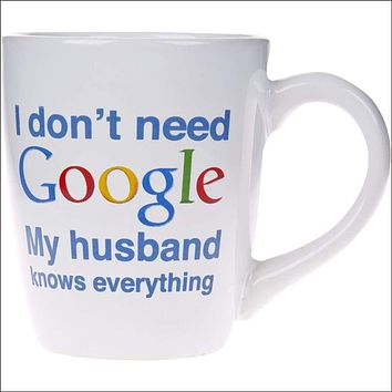 I Don't Need Google Coffee Cup, White