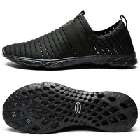 Aleader New Breathable Mens Shoes Summer Slip On Beach Shoes Flat Ladies Walking Water Shoes Mesh Casual Shoes zapatillas