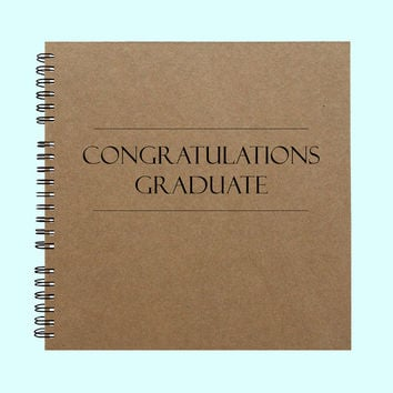 Congratulations Graduate - Book, Large Journal, Personalized Book, Personalized Journal, Scrapbook, Smashbook