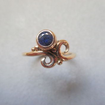 14Kt. Gold Sapphire Ring
