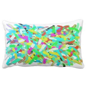 Abstract Art Positive Vibes Splashes Cushion