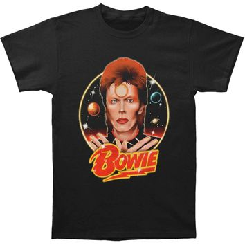 ea0f6cd0afff00 David Bowie Men's Space Oddity Slim Fit T-shirt Black
