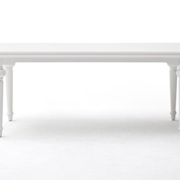 "Provence 79"" Dining Table White semi-gloss"