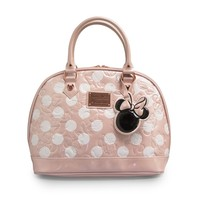Minnie Mouse Pink Polka Dot Embossed Bag - Satchels - Bags