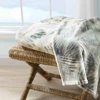Wallpaper Leaves Castaway Ultra Soft Plush Throw