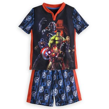 Licensed cool Marvel's Avengers: Age of Ultron Short Sleep Set for Boys Pajamas Disney Store