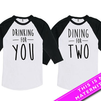 Matching Couples Shirts Pregnancy Announcement T Shirt Baby Announcement Mother To Be Father To Be American Apparel Unisex Raglan MAT569-570