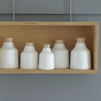 extra small porcelain bottle. modern minimal ceramic pottery by vitrifiedstudio