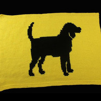 Dog Blanket, Dog Bedding, Pet Blanket, Any Pet Blanket, Silhouette Blanket,  Custom Orders Available, Any Color Combo, Pet Accessory