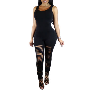 Milk Silk Romper Women Jumpsuit Catsuit Overalls Bodysuit Bodycon Hollow Frayed Sexy Club Skinny Playsuit 2016 Enteritos Mujer