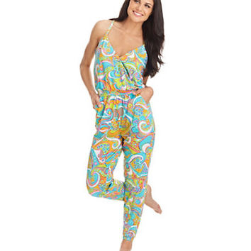 Trina Turk Cosmo Cross Back Jumpsuit Cover Up