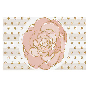"Pellerina Design ""Watercolor Peony"" Pink Floral Decorative Door Mat"