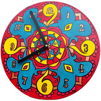 Mexico Mandala Record Clocks