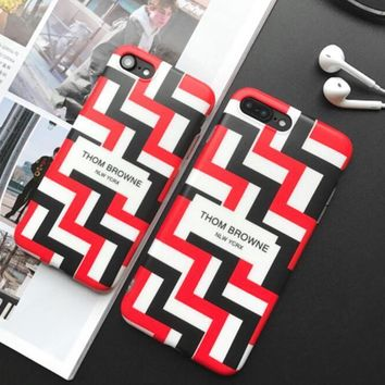 Thom browne letters geometry iPhone 7 7 Plus 6 6s Plus Phone Cover Case soft shell