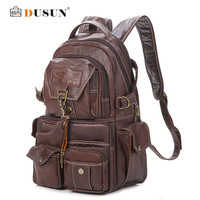 The New Large Capacity PVC Material College Vintage Shoulder Women's Backpack Students Travel Computer Leather Bag Mochilas