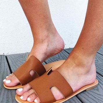 Better Than That Sandals: Cognac