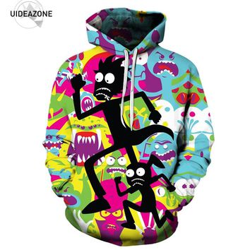 Cartoon Rick and Morty Hoodie Hoodies Men Women New Fashion Autumn Winter Pullover Hooded Sweatshirt Casual Brand Tracksuit 5XL
