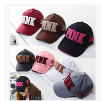 the new leisure sports fashion value 3D stereo embroidery PINK couples men and women winter warm letter baseball cap