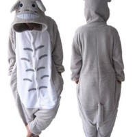 "Totoro Kigurumi Pajamas Adult Anime Cosplay Halloween Costume ,size S (58""-64"")"