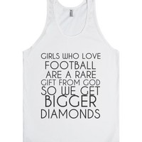Girls Who Love Football-Unisex White Tank