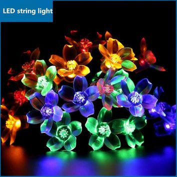New Flower solar LED lamp string led lamps 7M/50PCS led light christmas lights outdoor Holiday christmas decorations for home