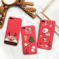 Iphone 6/6s Stylish Cute Lovely Cartoons Christmas Apple Phone Case [113149771791]