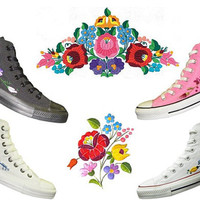 Costumize Hand Embroidery Shoes with Tradicional Hungarian Motives