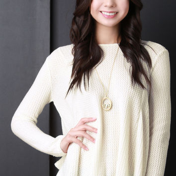 Soft Knit Long Sleeves Sweater Top