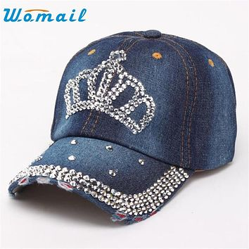 2017 Hot Sale New Fashion Unisex  High Quality Hip-Hop Baseball Cap Full Diamond Crown  Flat Snapbac 17mar10  Send in two days
