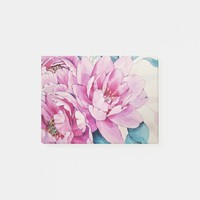 Floral Art Painting Post-it Notes