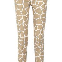 MICHAEL Michael Kors | Giraffe-print stretch-cotton pants | NET-A-PORTER.COM