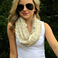 BEACHY BREEZE INFINITY SCARF - WHITE