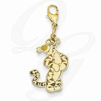 Gold-Plated SS Disney Tigger Lobster Clasp Charm