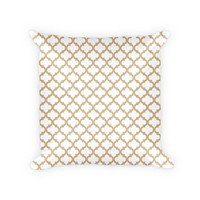 Quatrefoil Pattern Cotton Poly Throw Pillow