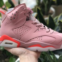 Air Jordan 6 Pink  Basketball Sneaker