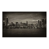 Chicago Skyline Print from Zazzle.com