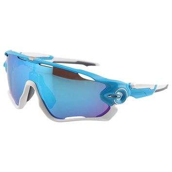 Oakley Jawbreaker Sunglasses - Sky With Sapphire Iridium Lens