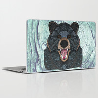 Ornate Black Bear Laptop & iPad Skin by ArtLovePassion
