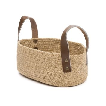 Jute Table Basket - Oval - Handmade