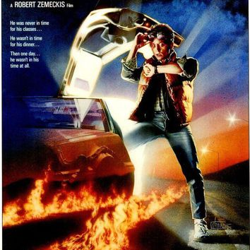 CREYONY Michael J. Fox Signed Autographed 'Back to the Future' 11x17 Movie Poster (JSA COA)