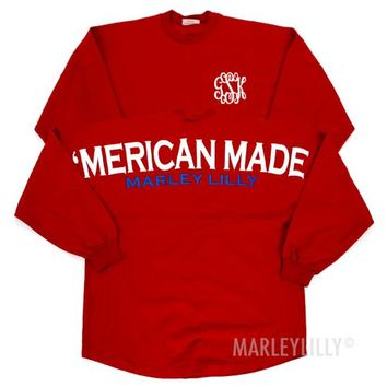 Monogrammed 'Merican Made Spirit Football Jersey | Marley Lilly