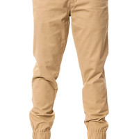 The Slim Chino Joggers in Khaki