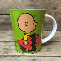 "Charlie Brown with Kite ""A Man Has to do What He Has to Do!"" Peanuts Mug"