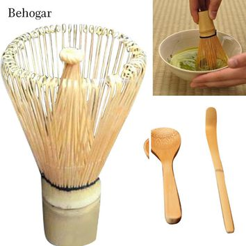 Behogar 1set Japanese Style Tea Set Matcha Green Tea Whisk Powder Set Including Whisk Scoop Tea Spoon Tools