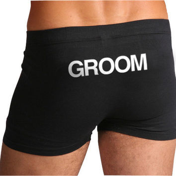 Groom Boxers / Underwear by Trunkoflove on Etsy